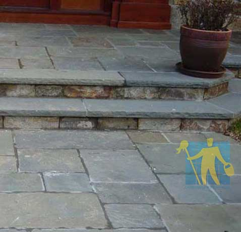 Imperfections bluestone  patio garden steps