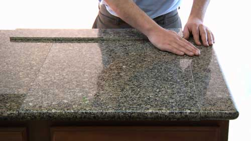 Restoration countertop granite before and after