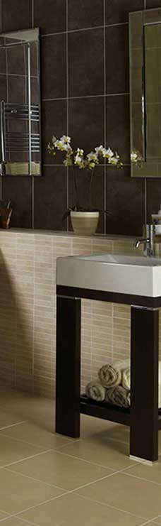 beautiful look Sandstone Tiles in bathroom