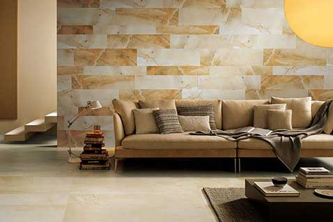warmand golden toned Sandstone effect wall and floor tiles Tile Repairs gungahlin