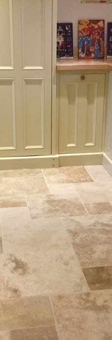 Travertine Kitchen Tiles After Cleaning